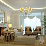 欧式风格四居室客厅壁炉设计效果图鉴赏