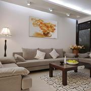 现代风格三居室客厅沙发背景墙设计效果图