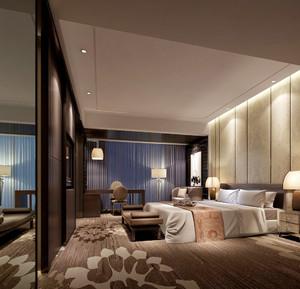 32平米后现代风格卧室窗帘设计效果图鉴赏