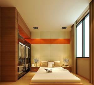 21平米日式风格小卧室衣柜设计效果图赏析