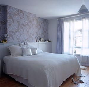 90平米北欧风格卧室墙纸装修效果图赏析