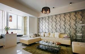 现代简约风格大户型客厅飘窗设计效果图鉴赏