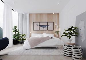 80平米现代简约风格卧室装修效果图鉴赏