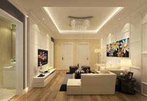 现代简约风格小户型客厅卫生间隔断设计效果图