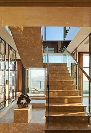 新中式风格别墅楼梯设计装修效果图赏析