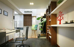 新中式风格大户型书房装修设计效果图赏析