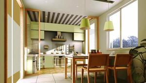 宜家风格小户型餐厅厨房隔断设计效果图