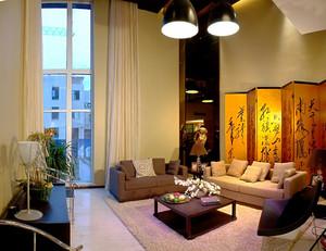 中式风格二居室客厅屏风设计效果图赏析