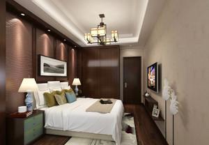 27平米中式风格卧室整体衣柜设计效果图赏析
