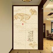 140平米中式风格客厅玄关设计效果图赏析