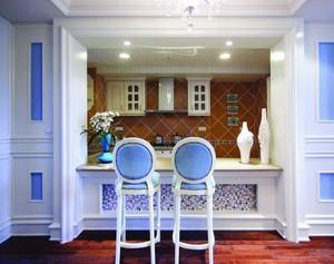 8平米地中海风格厨房吧台效果图鉴赏