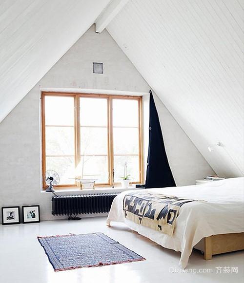 自然舒适的阁楼卧室装修效果图大全