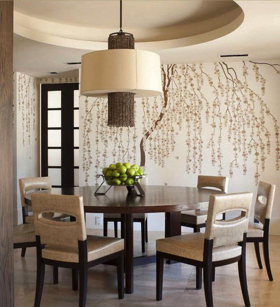 后现代风格二居室餐厅创意墙贴设计效果图赏析