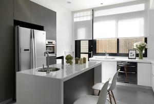 15平米北欧风格开放式厨房吧台设计效果图