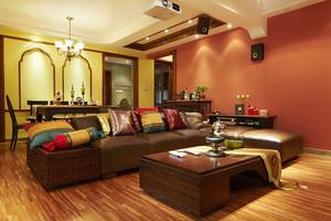 东南亚风格两室两厅一卫室内装修设计效果图
