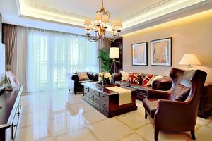 147平米复古美式风格两室两厅室内装修效果图赏析