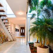 现代简约风格复式楼楼梯设计效果图赏析