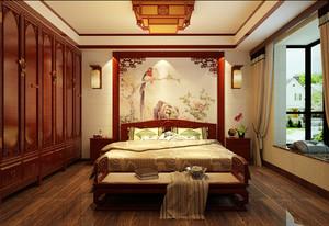 古典中式风格两室两厅两卫设计效果图赏析