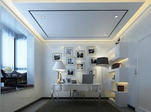 简欧风格大户型书房照片墙设计效果图鉴赏