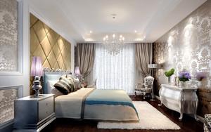 146平米简欧风格主卧室窗帘设计效果图鉴赏