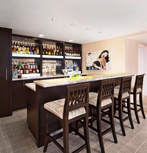美式风格大户型酒柜吧台设计效果图赏析