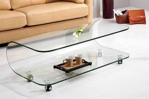 现代风格小户型客厅玻璃茶几设计效果图