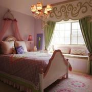 22平米欧式田园风格儿童房飘窗设计效果图