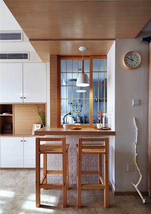 65平米日式风格家装小吧台设计效果图赏析