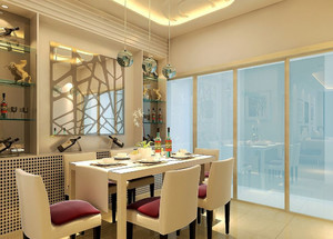 现代简约风格小户型餐厅隔断设计效果图赏析
