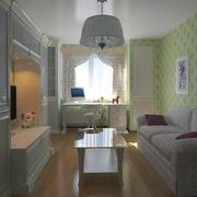 80平米现代风格客厅电视柜设计效果图赏析