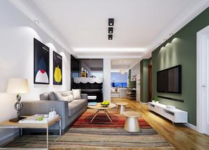 110平米现代简约风格客厅隔断设计效果图