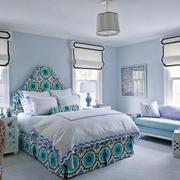 30平米现代简约美式风格卧室装修效果图赏析