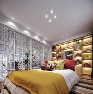 现代简约中式风格三室一厅室内装修效果图鉴赏