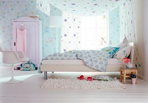 24平米现代田园风格儿童房装修效果图赏析