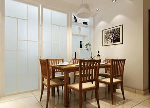 100平米新中式风格厨房餐厅隔断设计效果图