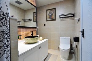 新中式风格三室一厅装修设计效果图鉴赏