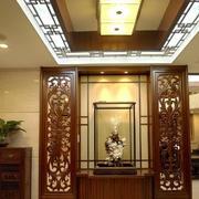 中式风格大户型玄关隔断设计装修效果图赏析