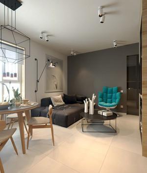 宜家简约风格小公寓室内装修效果图赏析