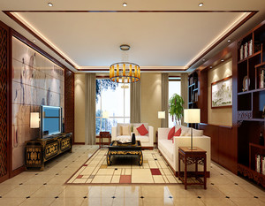 中式风格大户型室内装修效果图鉴赏