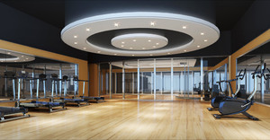 320平米现代简约风格健身房装修效果图鉴赏