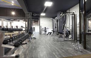 300平米后现代风格健身房装修效果图赏析