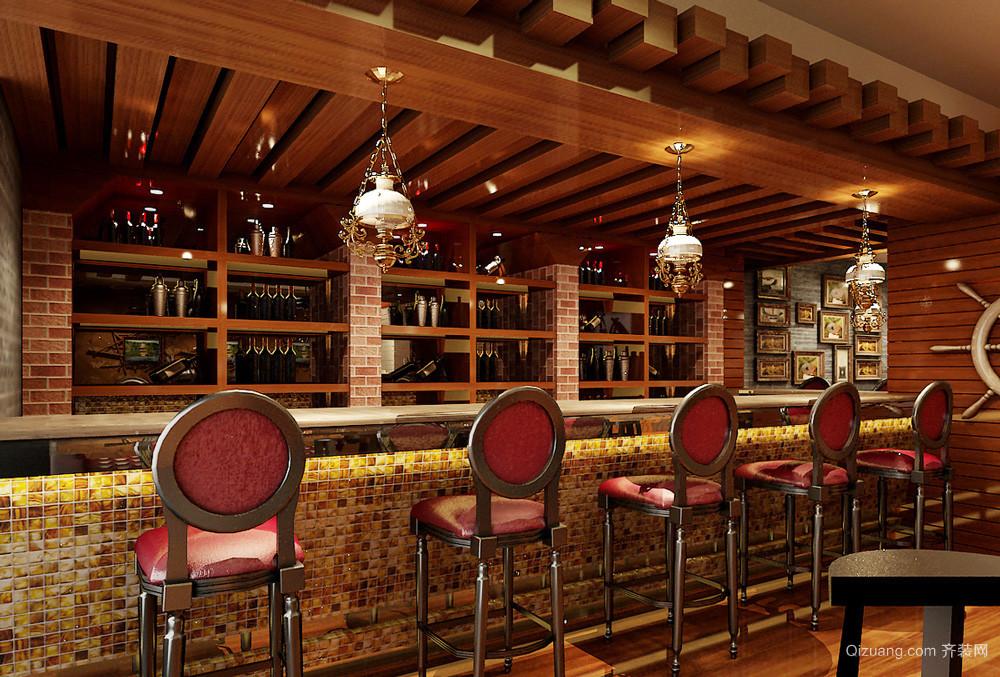 199平米美式风格酒吧设计装修效果图赏析