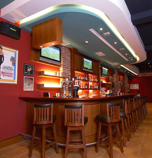 154平米古典美式风格酒吧装修效果图赏析