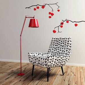 现代风格小户型室内创意墙贴设计效果图
