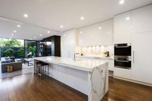 北欧风格大户型开放式大理石厨房装修效果图