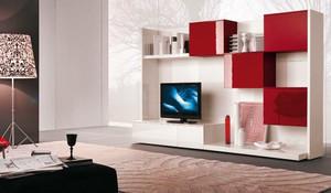 现代简约风格小户型客厅电视组合柜设计效果图