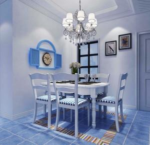 120平米地中海风格餐厅吊灯设计效果图赏析
