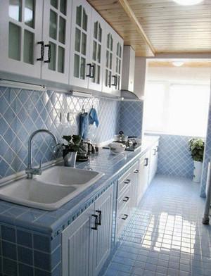 14平米地中海风格小厨房装修设计效果图赏析