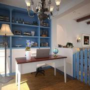 10平米地中海风格书房设计装修效果图鉴赏