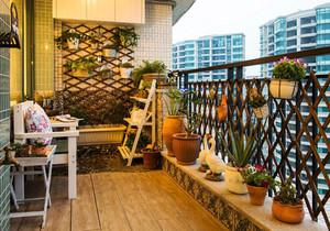 东南亚风格大户型阳台装修效果图赏析